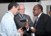 H.E. Mr Stephen Conroy, Minister for Broadband, Communications and the Digital Economy, Department of Broadband, Communications and the Digital Economy, Mr Paul Budde, Indepedent Telecommunications Analyst, BuddeComm, & Dr Hamadoun I. Touré Secretary General, ITU. December 2012.