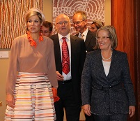 Paul escorts Her Majesty Queen Maxima of the Netherlands, Mrs Lucy Turnbull Chief Commissioner Greater Sydney Commission, Dutch Minister of Economic Affairs Hon. Henk Kamp and the Australian Assistant Minister to the Prime Minister Hon. James McGrath into the venue of the Dutch Australian Smart City Summit. Dutch Australian Smart City Summit, Sydney, November 2016.
