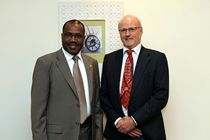 Meeting in Qatar with Dr. Hamadoun Touré, Secretary General of the ITU, March 2012.