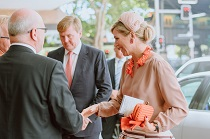 Paul welcomes King Willem Alexander and Queen Máxima of the Netherlands at the Dutch Australian Smart City Summit in Sydney, November 2016.